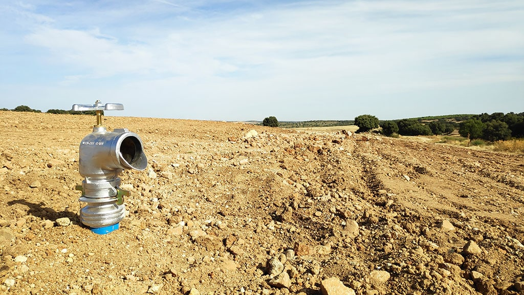 Hidrante para cañón de riego