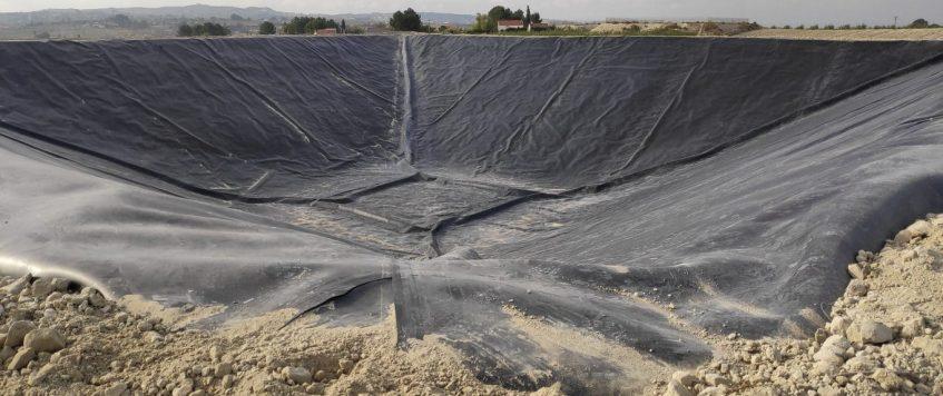 Embalse de riego en Los Valientes (Molina de Segura)