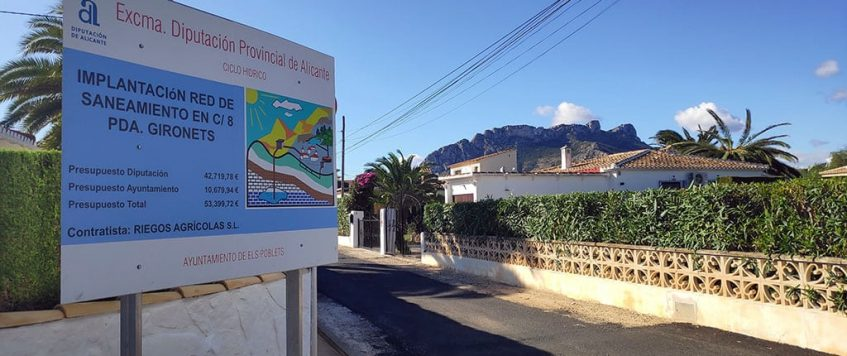 Terminan las obras de saneamiento en Els Poblets
