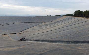 Impermeabilización de embalse de riego en Mula